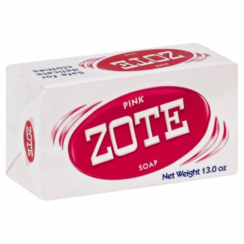 Zote Pink Laundry Bar Soap Perspective: front