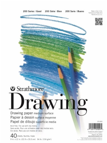 Strathmore 200 Series Drawing Paper - White Perspective: front