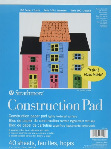 Strathmore - Kids Construction Paper Pad Perspective: front
