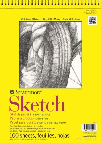 Strathmore 300 Series Wirebound Sketch Paper Perspective: front