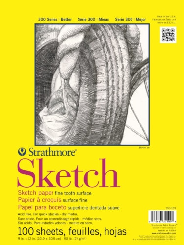 Strathmore 50 lb 300 Series Sketch Pad - White Perspective: front