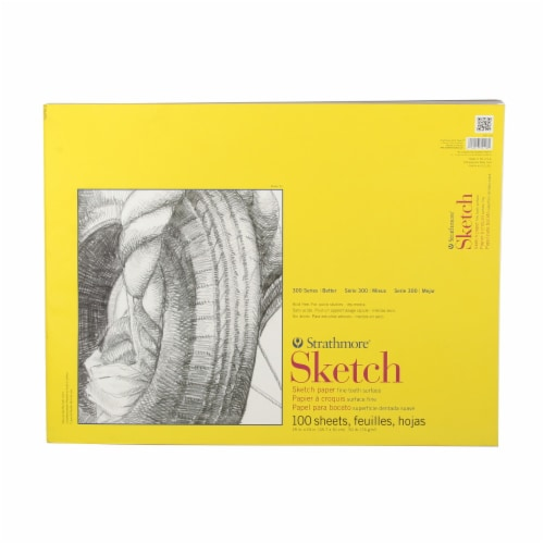 Strathmore Sketch 300 Series Fine Tooth Surface Sketch Paper - 100 Sheets Perspective: front