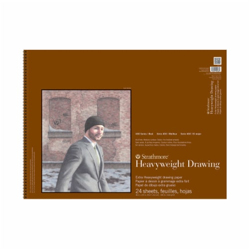 Strathmore 400 Series Extra Heavyweight Drawing Paper - 24 Sheets - Cream Perspective: front