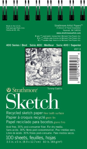 Strathmore 400 Series Pocket Sketch Pad - White Perspective: front
