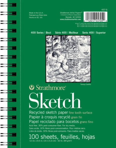 Strathmore Series 400 Recycled Sketchbook Perspective: front