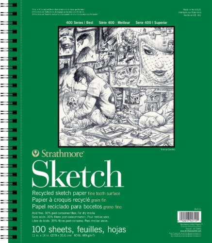 Strathmore 400 Series Recycled Sketch Pad - 100 Sheets - White Perspective: front