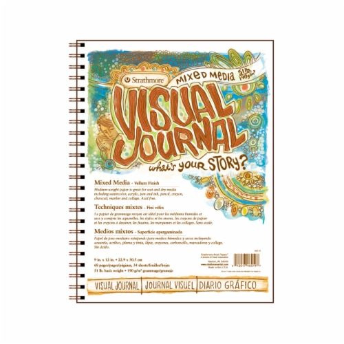 Strathmore Visual Journal Mixed-Media Medium-Weight Paper - 34 Sheets Perspective: front