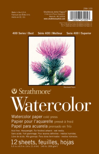Strathmore 400 Series Watercolor Pad - White Perspective: front