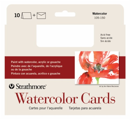 Strathmore Watercolor Cards Cold Press Handmade Card Kit Perspective: front