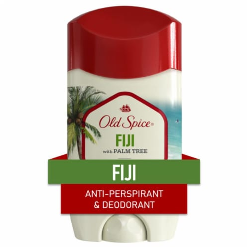 Old Spice Men Invisible Solid Antiperspirant Deodorant Fiji with Palm Tree Scent Perspective: front