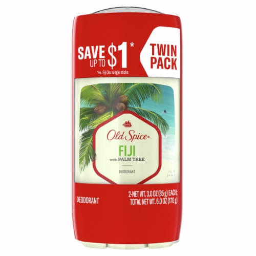 Old Spice Fiji Deodorant 2 Count Perspective: front