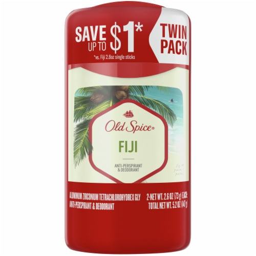 Old Spice Men Fresher Collection Fiji Anti-Perspirant & Deodorant Sticks Value Pack Perspective: front