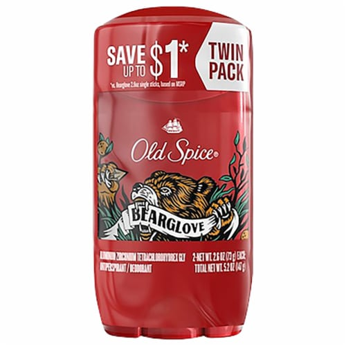 Old Spice Wild Collection Bearglove Anti-Perspirant & Deodorant 2 Count Perspective: front