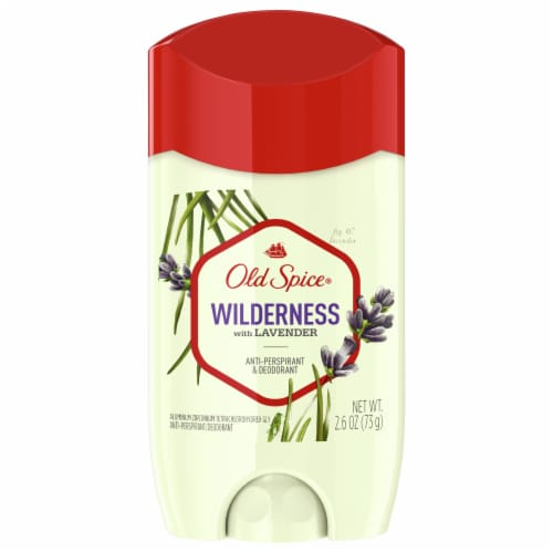 Old Spice Men Antiperspirant Deodorant Wilderness With Lavender Invisible Solid Perspective: front