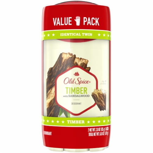 Old Spice Fresh Collection Timber with Sandalwood Deodorant Twin Pack Perspective: front
