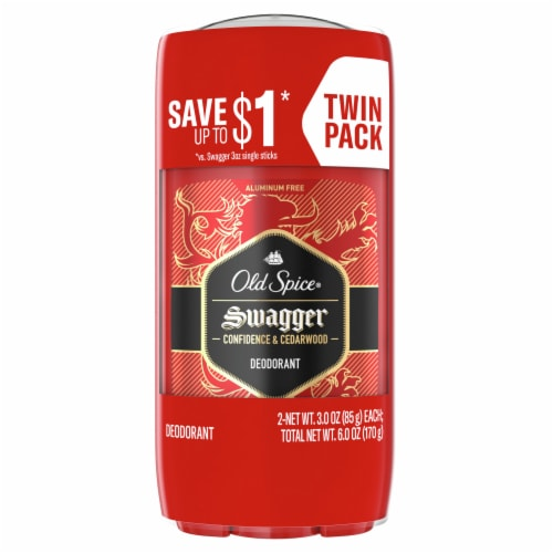 Old Spice Red Zone Collection Swagger Deodorant for Men Sticks Value Pack Perspective: front