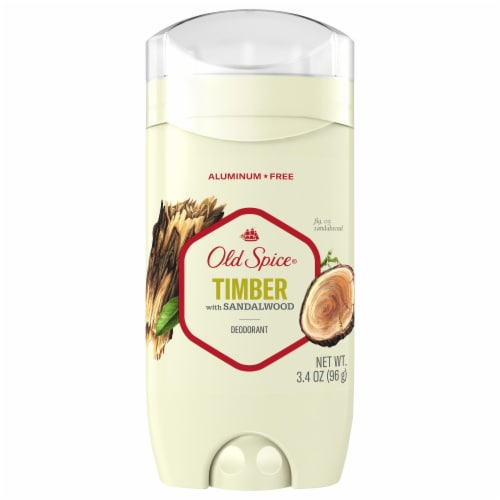 Old Spice Men Deodorant Timber with Sandalwood Scent Inspired by Nature Perspective: front