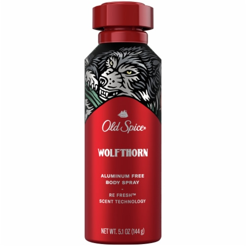 Old Spice Wolfthorn Aluminum Free Body Spray Perspective: front