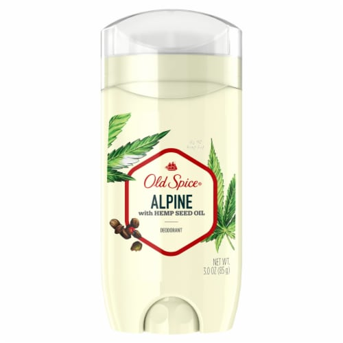 Old Spice Alpine with Hemp Seed Oil Deodorant Perspective: front