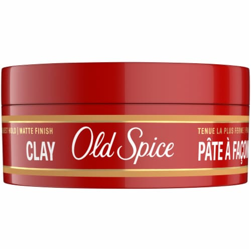 Old Spice High Matt Effect Hair Styling Clay Perspective: front