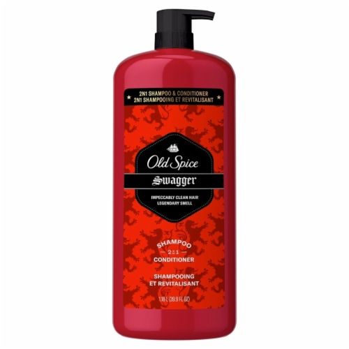 Old Spice Swagger 2 in1 Shampoo and Conditioner for Men (39.9 Fluid Ounce) Perspective: front