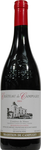 Chateau De Campuget Red Blend Wine Perspective: front