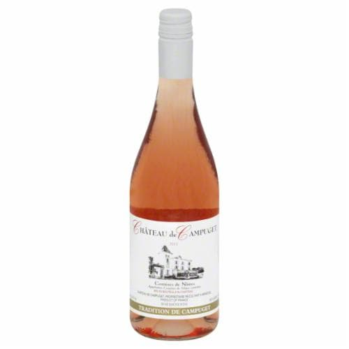 Chateau De Campuget Tradition Rose Wine Perspective: front