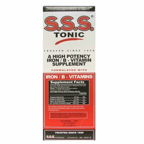 S.S.S. Tonic Iron & B-Vitamins Supplement Perspective: front