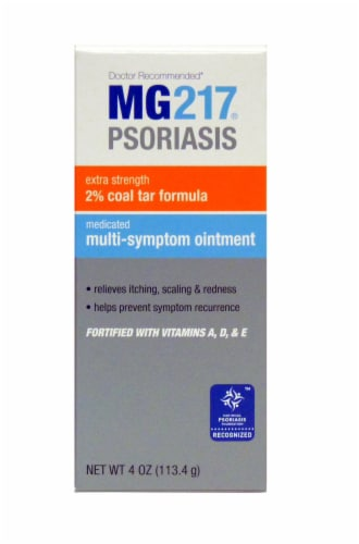 MG217 Psoriasis Coal Tar Formula Medicated Multi-Symptom Ointment Perspective: front