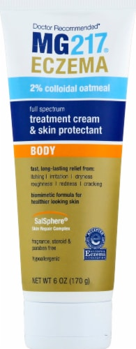 MG217 Eczema Full Spectrum Body Treatment Cream & Skin Protectant Tube Perspective: front