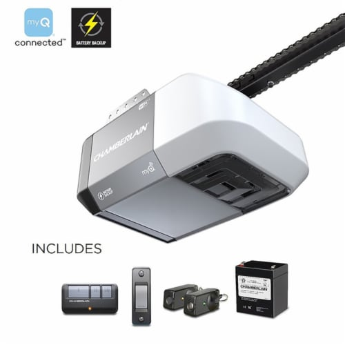 Chamberlain MyQ 1/2 hp Chain Drive WiFi Compatible Garage Door Opener - Case Of: 1; Each Pack Perspective: front