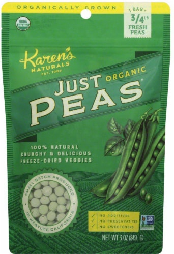 Karen's Naturals Organic Just Peas Perspective: front