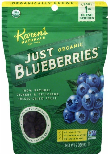 Karen's Naturals Organic Just Blueberries Perspective: front