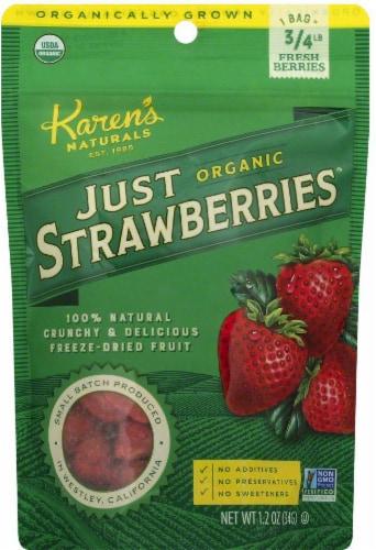 Karen's Naturals Organic Just Strawberries Perspective: front