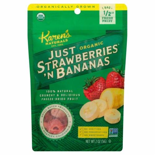 Karen's Naturals Just Strawberries and Bananas Perspective: front