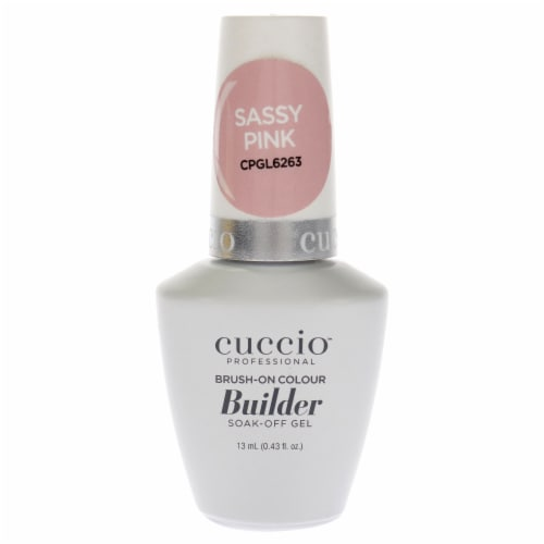 Cuccio Pro BrushOn Colour Builder Soak Off Gel  Sassy Pink Nail Polish 0.43 oz Perspective: front