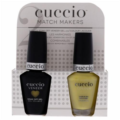 Cuccio Match Makers Set  Seriously Celsius 0.44oz Veneer Soak Of Gel Nail Polish, 0.43oz Colo Perspective: front