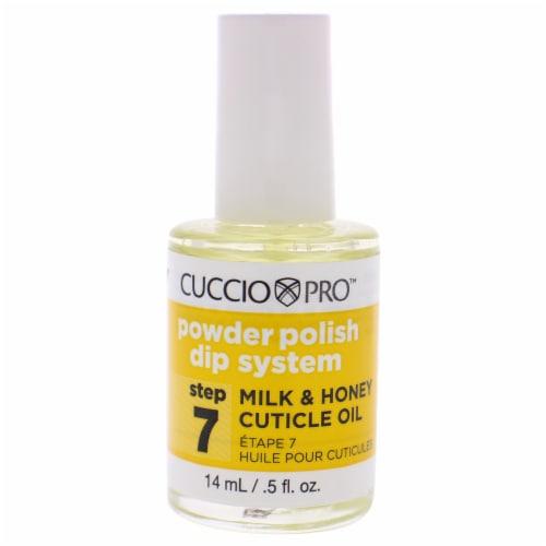 Cuccio Pro Powder Polish Dip System Milk and Honey Cuticle Oil  Step 7 Nail Polish 0.5 oz Perspective: front