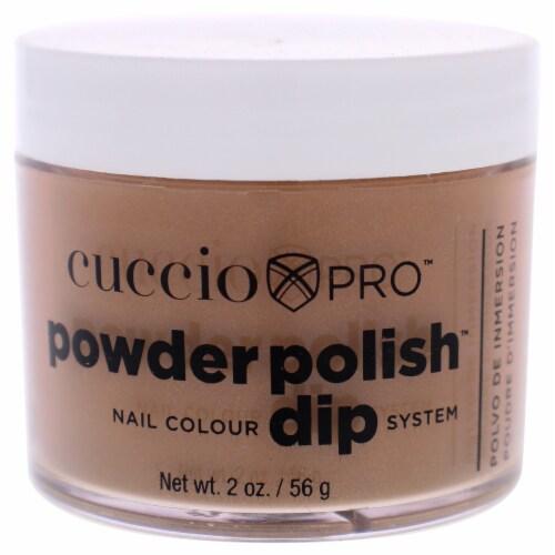 Cuccio Pro Powder Polish Nail Colour Dip System  Brown Sugar Nail Powder 1.6 oz Perspective: front