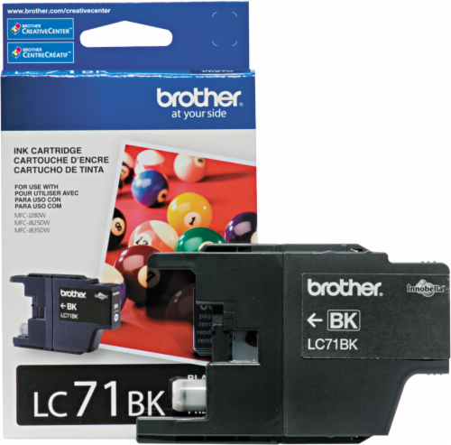 Brother LC71 Ink Cartridge - Black Perspective: front