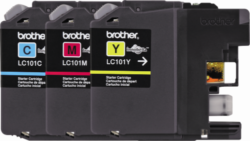 Brother LC101 Ink Cartridge - Magenta/Cyan/Yellow Perspective: front