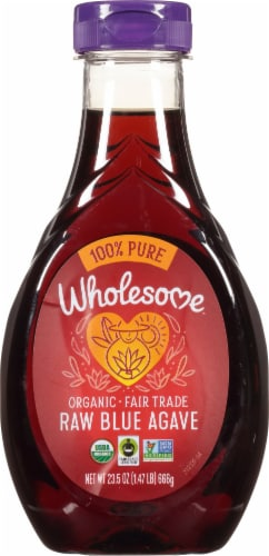 Wholesome Organic Raw Blue Agave Low Glycemic Sweetener Perspective: front