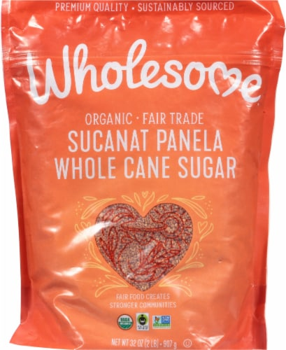 Wholesome Sweeteners Organic Sucanat Sugar Cane Perspective: front