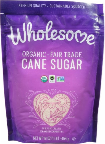 Wholesome Organic Cane Sugar Perspective: front