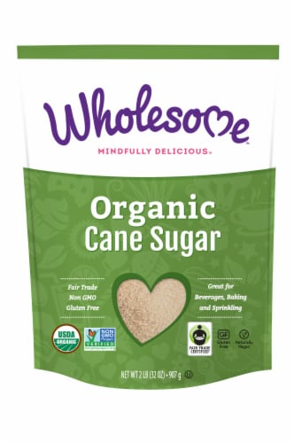 Wholesome Sweeteners Organic Sugar Evaporated Cane Juice Perspective: front
