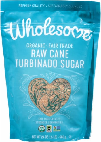 Wholesome Organic Raw Cane Turbinado Sugar Perspective: front
