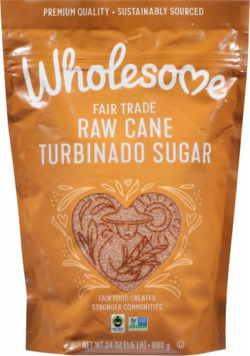 Wholesome Sweeteners Natural Raw Cane Turbinado Sugar Perspective: front