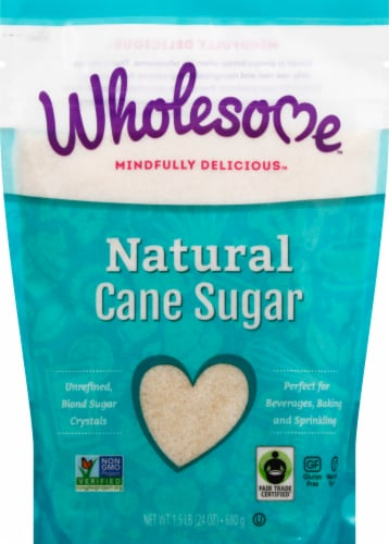 Wholesome Sweeteners Natural Cane Sugar Perspective: front
