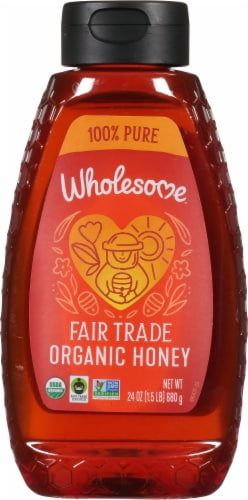 Wholesome Organic Honey Perspective: front