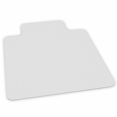 ES Robbins 46 Inch x 60 Inch Everlife Carpet Chair Mat for 3/4 Inch Thick Carpet Perspective: front